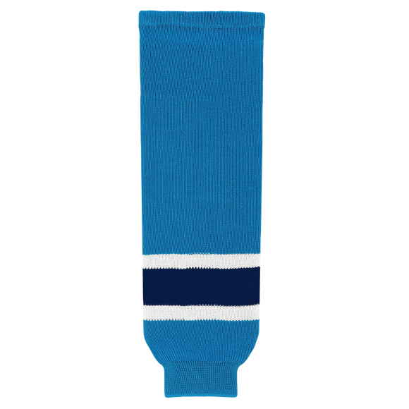 Athletic Knit (AK) HS630-468 Pro Blue/White/Navy Ice Hockey Socks