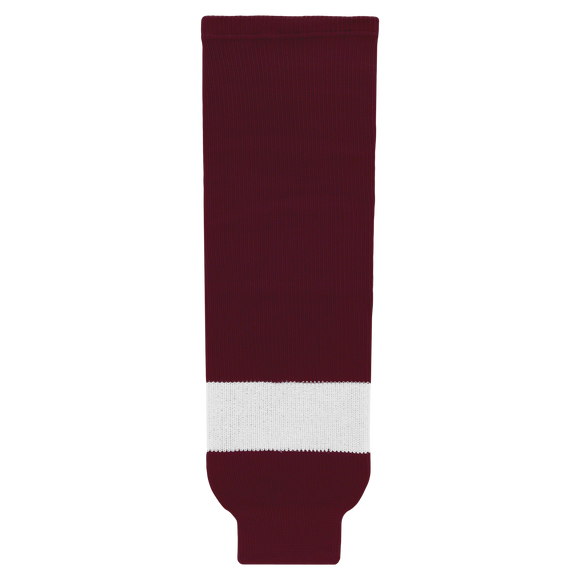 Athletic Knit (AK) HS630-480 Peterborough Petes Maroon Ice Hockey Socks
