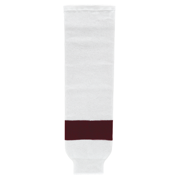 Athletic Knit (AK) HS630-481 Peterborough Petes White Ice Hockey Socks