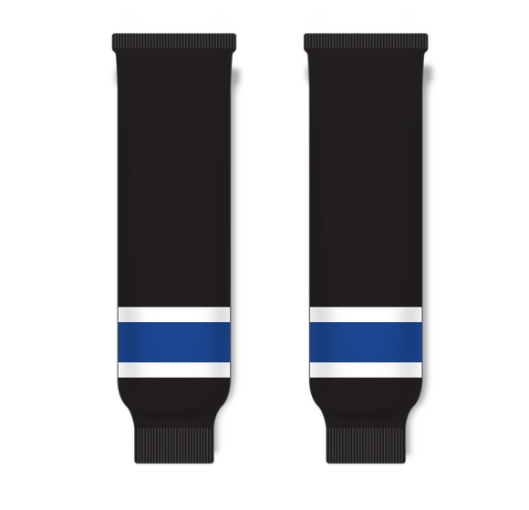 Athletic Knit (AK) HS630 2014 Tampa Bay Lightning 3rd Black Ice Hockey Socks - PSH Sports