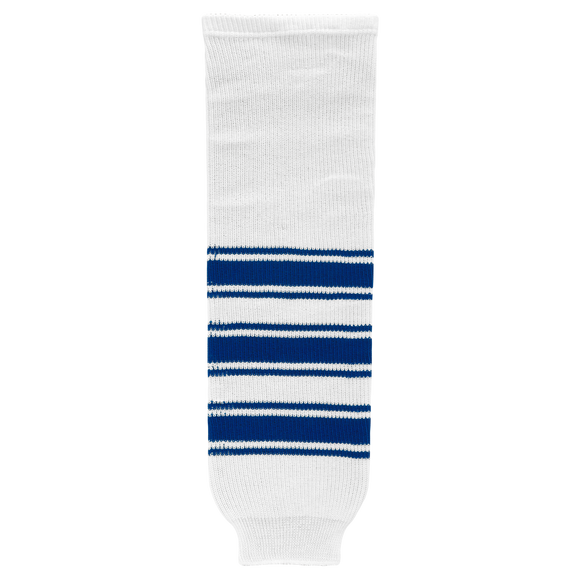 Athletic Knit (AK) HS630-505 New Toronto Maple Leafs White Knit Ice Hockey Socks