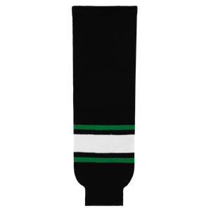 Athletic Knit (AK) HS630-506 Dallas Stars Black Knit Ice Hockey Socks