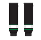 Athletic Knit (AK) HS630 Dallas Stars Black Ice Hockey Socks - PSH Sports