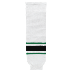 Athletic Knit (AK) HS630-507 Dallas Stars White Ice Hockey Socks