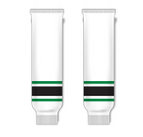 Athletic Knit (AK) HS630 Dallas Stars White Ice Hockey Socks - PSH Sports