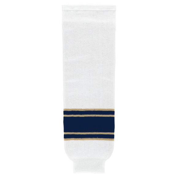 Athletic Knit (AK) HS630-521 University of Notre Dame Fighting Irish White Knit Ice Hockey Socks