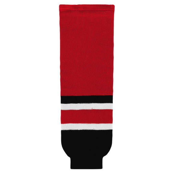 Athletic Knit (AK) HS630-532 2017 Carolina Hurricanes Red Knit Ice Hockey Socks