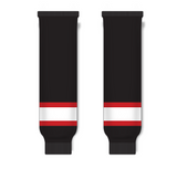 Athletic Knit (AK) HS630 Ottawa Senators Black with White Stripe Ice Hockey Socks - PSH Sports