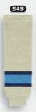 Athletic Knit (AK) HS630-545 Sand/Navy/Sky Blue Knit Ice Hockey Socks