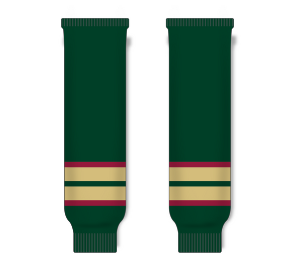 Athletic Knit (AK) HS630 Minnesota Wild Forest Green Ice Hockey Socks - PSH Sports