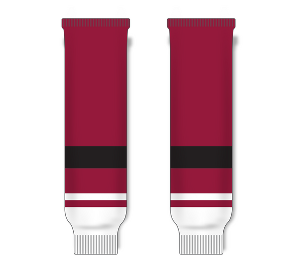 Athletic Knit (AK) HS630 2015 Arizona Coyotes AV Red Ice Hockey Socks - PSH Sports