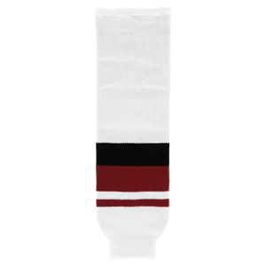 Athletic Knit (AK) HS630-583 2015 Arizona Coyotes White Knit Ice Hockey Socks
