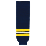 Athletic Knit (AK) HS630-589 2011 University of Michigan Wolverines Navy Ice Hockey Socks