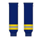 Athletic Knit (AK) HS630 2011 University of Michigan Wolverines Navy Ice Hockey Socks - PSH Sports