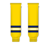 Athletic Knit (AK) HS630 2011 University of Michigan Wolverines Maize Ice Hockey Socks - PSH Sports