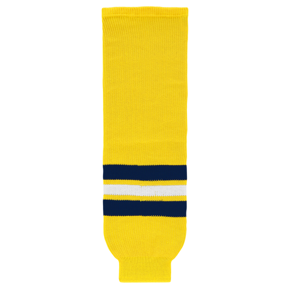 Athletic Knit (AK) HS630 2011 University of Michigan Wolverines Maize Ice Hockey Socks