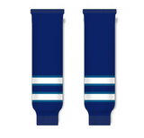 Athletic Knit (AK) HS630 2011 Winnipeg Jets Navy Ice Hockey Socks - PSH Sports