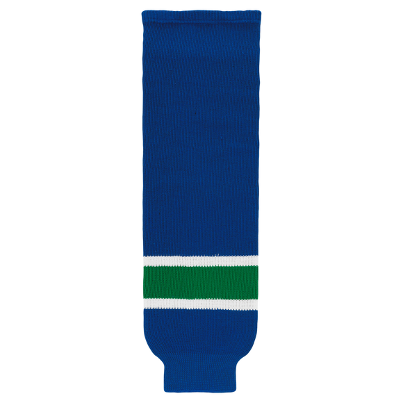 Athletic Knit (AK) HS630-622 Vancouver Canucks Royal Blue Ice Hockey Socks
