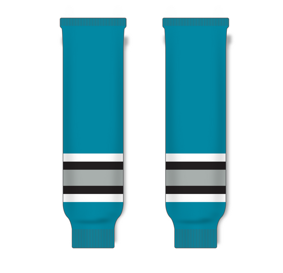 Athletic Knit (AK) HS630 San Jose Sharks Teal Ice Hockey Socks - PSH Sports