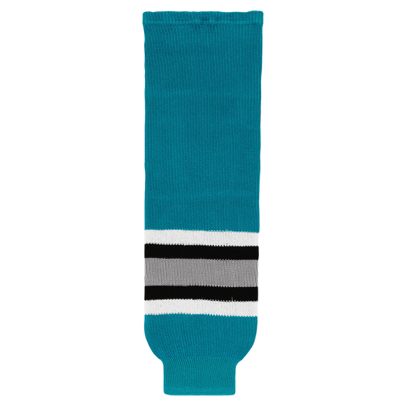 Athletic Knit (AK) HS630-636 San Jose Sharks Teal Ice Hockey Socks