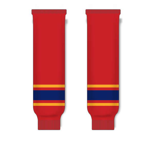 Athletic Knit (AK) HS630 2013 Florida Panthers Red Ice Hockey Socks - PSH Sports