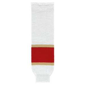 Athletic Knit (AK) HS630-669 2017 Florida Panthers White Knit Ice Hockey Socks