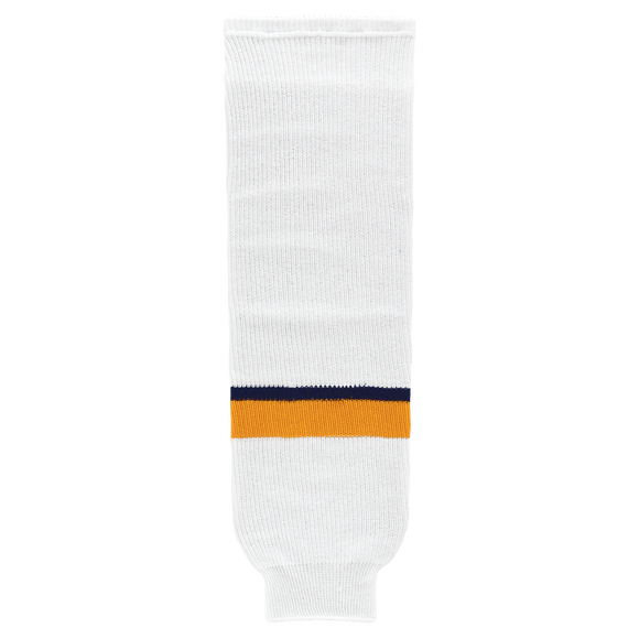 Athletic Knit (AK) HS630-676 2017 Nashville Predators White Knit Ice Hockey Socks
