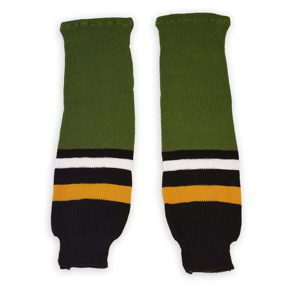 Athletic Knit (AK) HS630 Brampton Batallion Olive Green Ice Hockey Socks