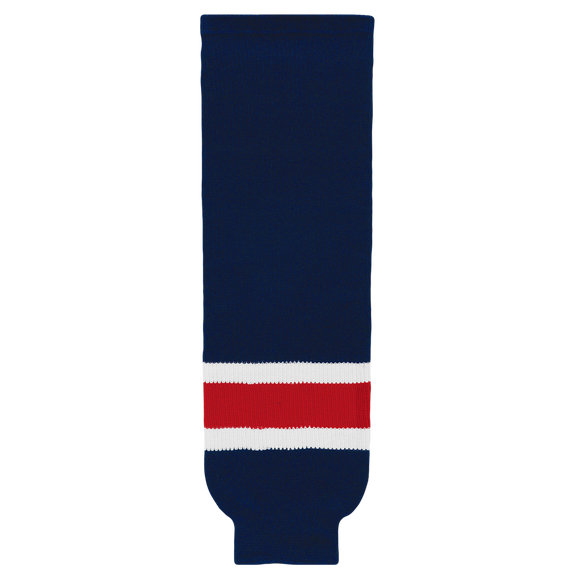 Athletic Knit (AK) HS630-690 Columbus Blue Jackets Navy Ice Hockey Socks