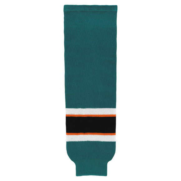 Athletic Knit (AK) HS630-736 2009 San Jose Sharks Dark Teal Knit Ice Hockey Socks