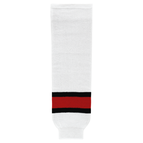 Athletic Knit (AK) HS630 2002 Team Canada White Ice Hockey Socks