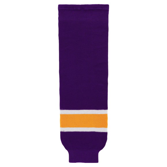 Athletic Knit (AK) HS630-751 Vintage Los Angeles Kings Purple Ice Hockey Socks