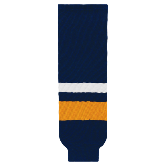 Athletic Knit (AK) HS630-800 2008 Buffalo Sabres Navy Ice Hockey Socks