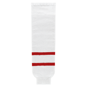 Athletic Knit (AK) HS630-803 2010 Team Canada White Knit Ice Hockey Socks