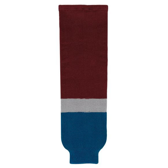 Athletic Knit (AK) HS630-804 2011 Colorado Avalanche Cardinal Ice Hockey Socks