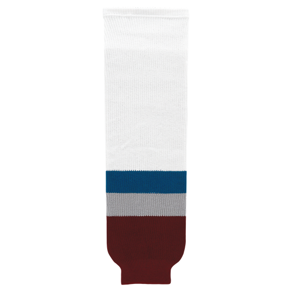 Athletic Knit (AK) HS630-805 2011 Colorado Avalanche White Ice Hockey Socks