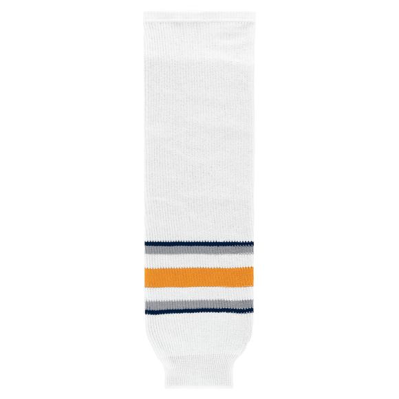 Athletic Knit (AK) HS630-811 2009 Buffalo Sabres Third White Ice Hockey Socks