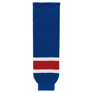 Athletic Knit (AK) HS630-812 New York Rangers Royal Blue Knit Ice Hockey Socks