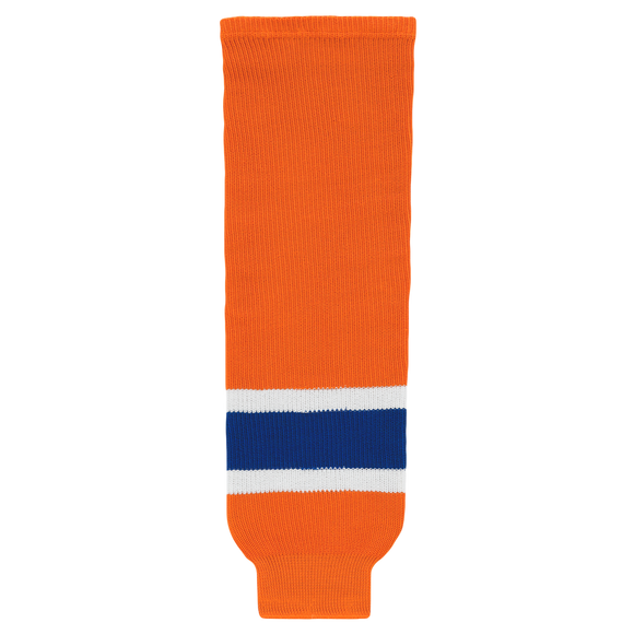 Athletic Knit (AK) HS630-819 2015 Edmonton Oilers Third Orange Ice Hockey Socks