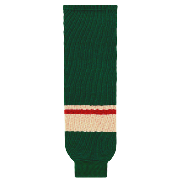 Athletic Knit (AK) HS630-860 2017 Minnesota Wild Dark Green Knit Ice Hockey Socks