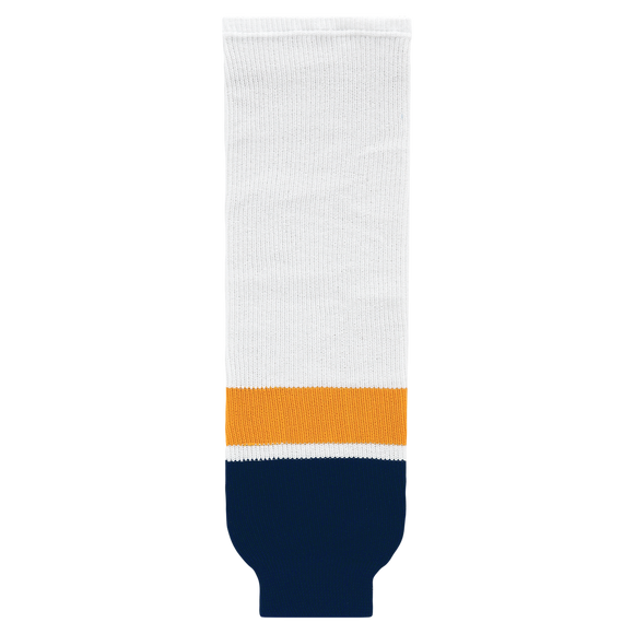 Athletic Knit (AK) HS630-872 2013 Nashville Predators White Ice Hockey Socks