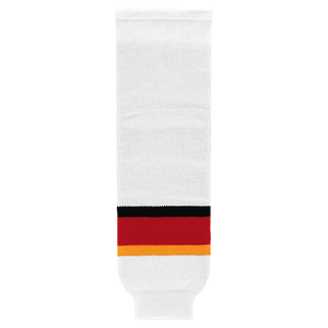 Athletic Knit (AK) HS630-882 2013 Calgary Flames White Knit Ice Hockey Socks