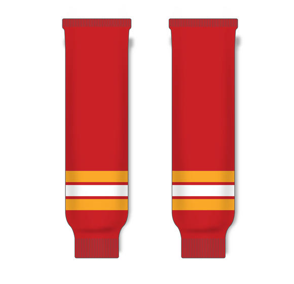 Athletic Knit (AK) HS630 Vintage Calgary Flames Red Ice Hockey Socks - PSH Sports