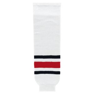 Athletic Knit (AK) HS630-891 2010 Columbus Blue Jackets White Knit Ice Hockey Socks