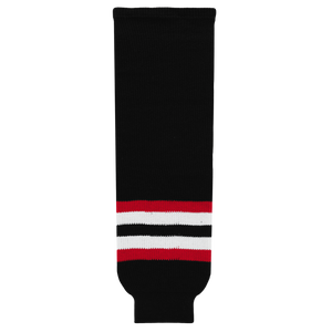 Athletic Knit (AK) HS630-936 2009 Ottawa Senators Third Black Ice Hockey Socks