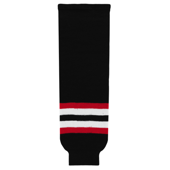 Athletic Knit (AK) HS630 2009 Ottawa Senators Third Black Ice Hockey Socks