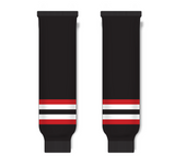 Athletic Knit (AK) HS630 2009 Ottawa Senators Third Black Ice Hockey Socks - PSH Sports