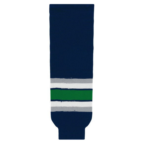 Athletic Knit (AK) HS630-943 Hartford Whalers Navy Ice Hockey Socks