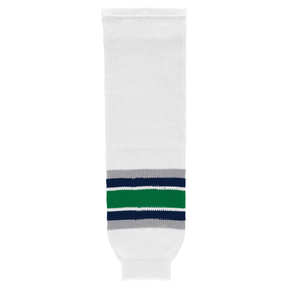 Athletic Knit (AK) HS630-944 Hartford Whalers White Knit Ice Hockey Socks