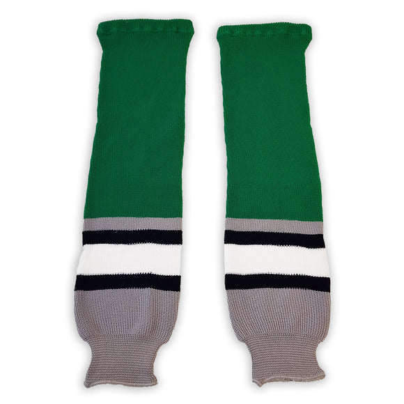 Athletic Knit (AK) HS630 Plymouth Whalers Kelly Green Ice Hockey Socks